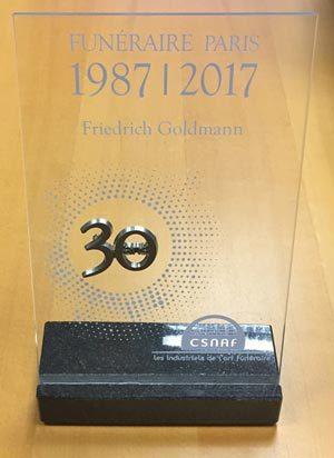 Anerkennung Teilnahme Funeraire 2017