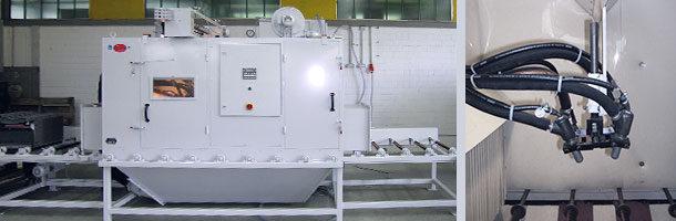 Sandstrahlautomat Durchlaufstrahlanlage Injektorsystem