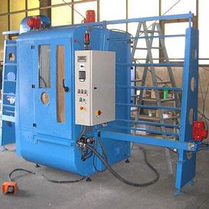 Glasdurchlauf-Strahlanlage CK 1300/1600